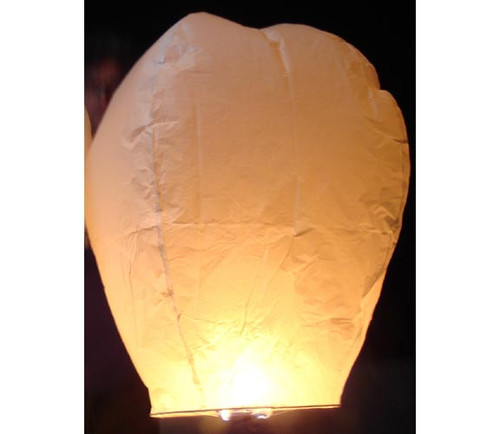 6 Pack  White Sky Lanterns