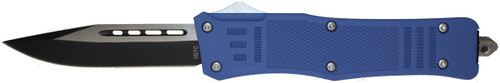 Cutting Edge Heretic Blue D/A OTF Automatic Knife - Two Tone Serrated