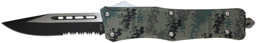 Cutting Edge Heretic Digi Camo VG10 OTF Automatic Knife - Two Tone Serrated