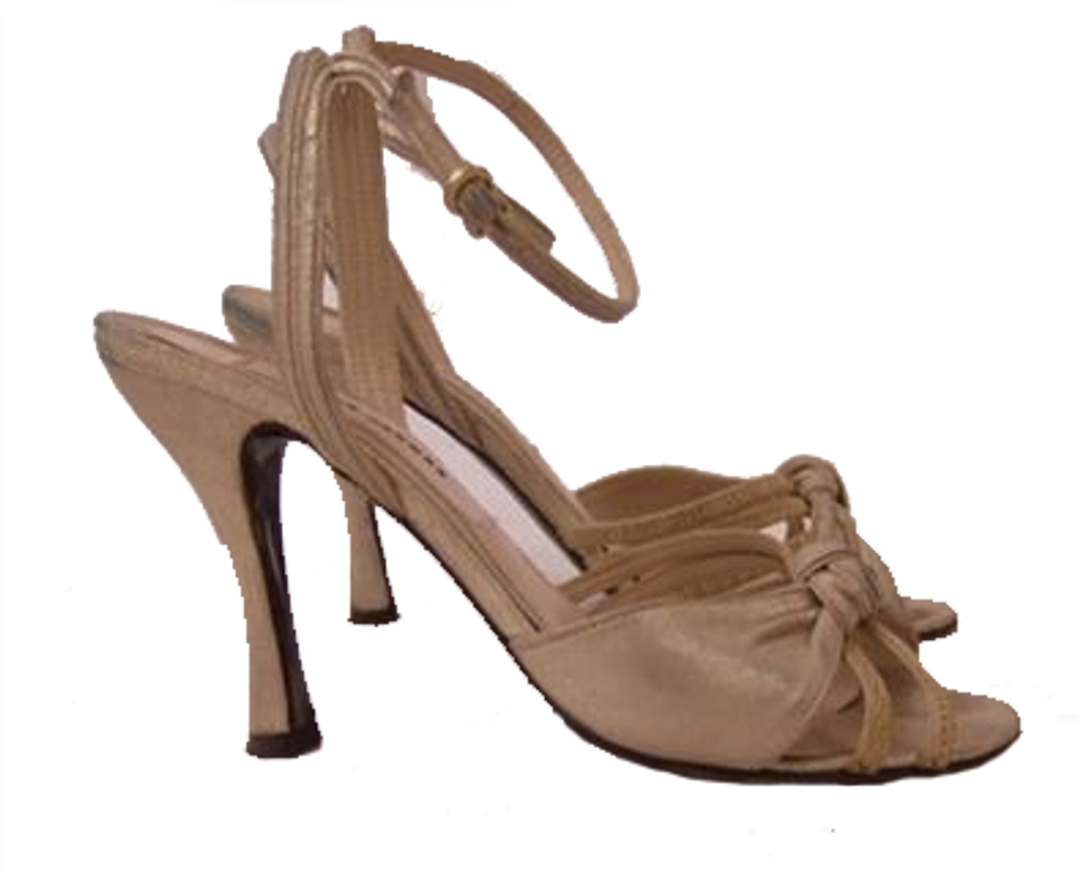 Marc Jacobs metallic beige ankle strap sandals