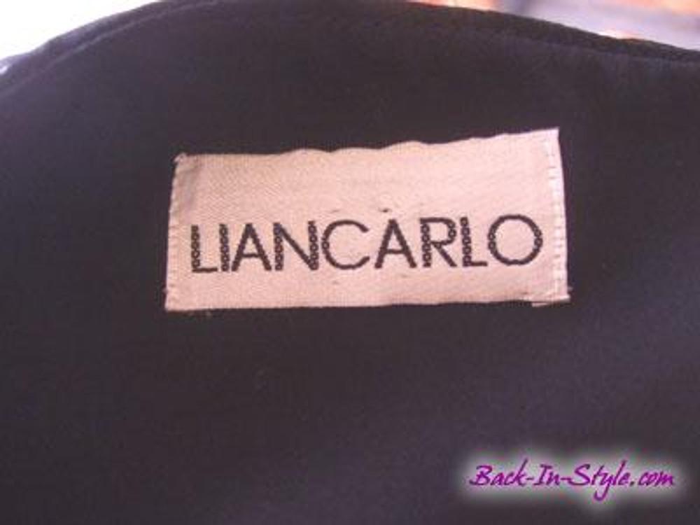 Liancarlo Black Chiffon Asymmetrical Ruched Cocktail Dress