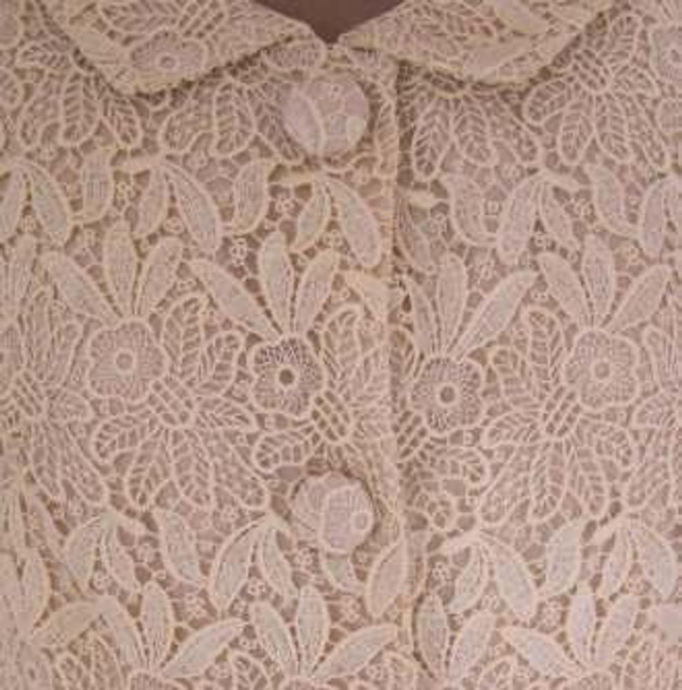 1960's Saks Cream Lace Jacket