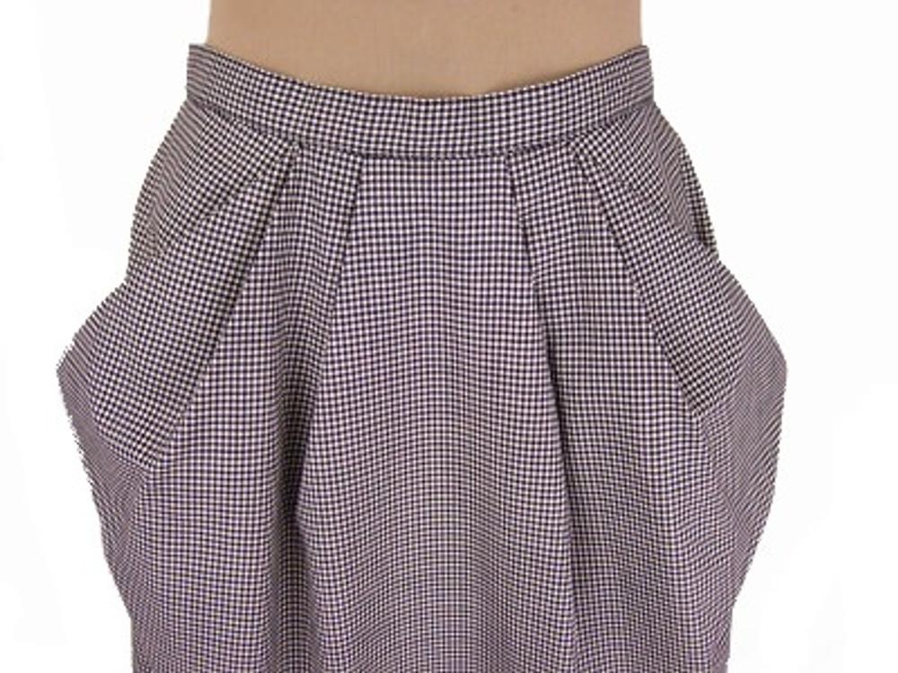 Vintage Geoffrey Beene Black & White Check Skirt Suit