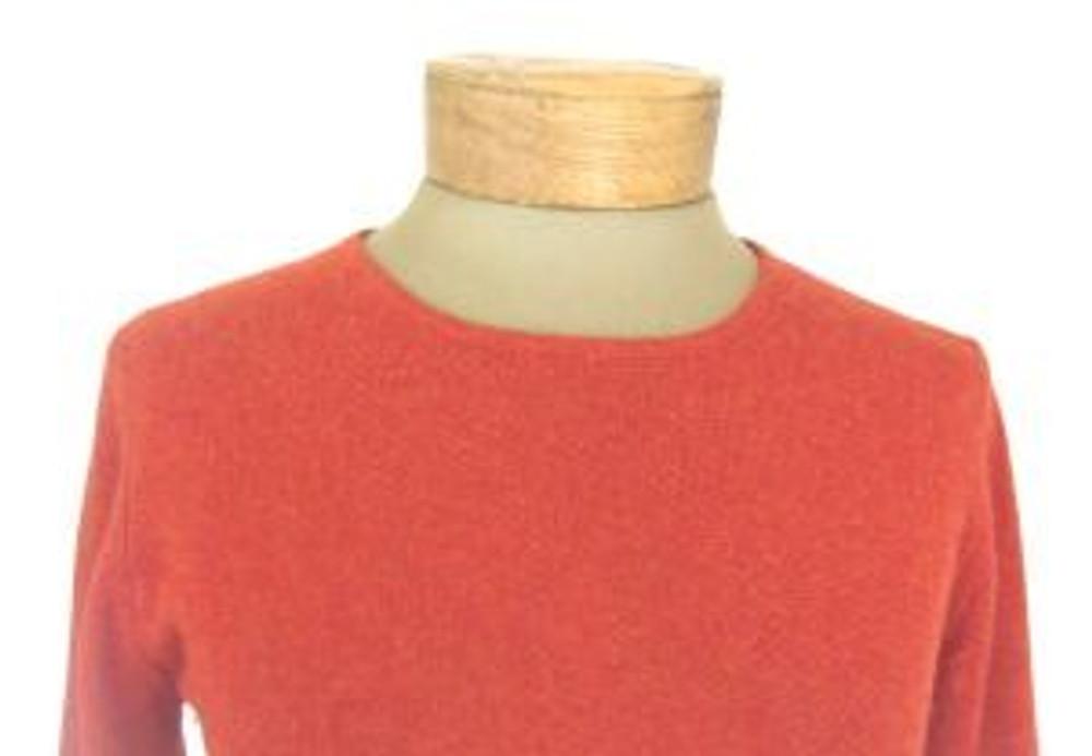 TSE Rust Orange/Red Cashmere Scoop Neck Sweater
