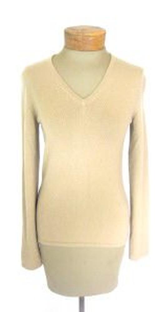 TSE Tan Cashmere V Neck Sweater