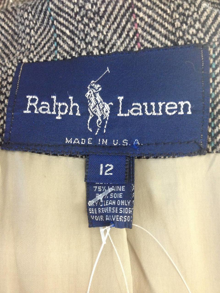 Vintage Ralph Lauren Herringbone Wool Jacket New!