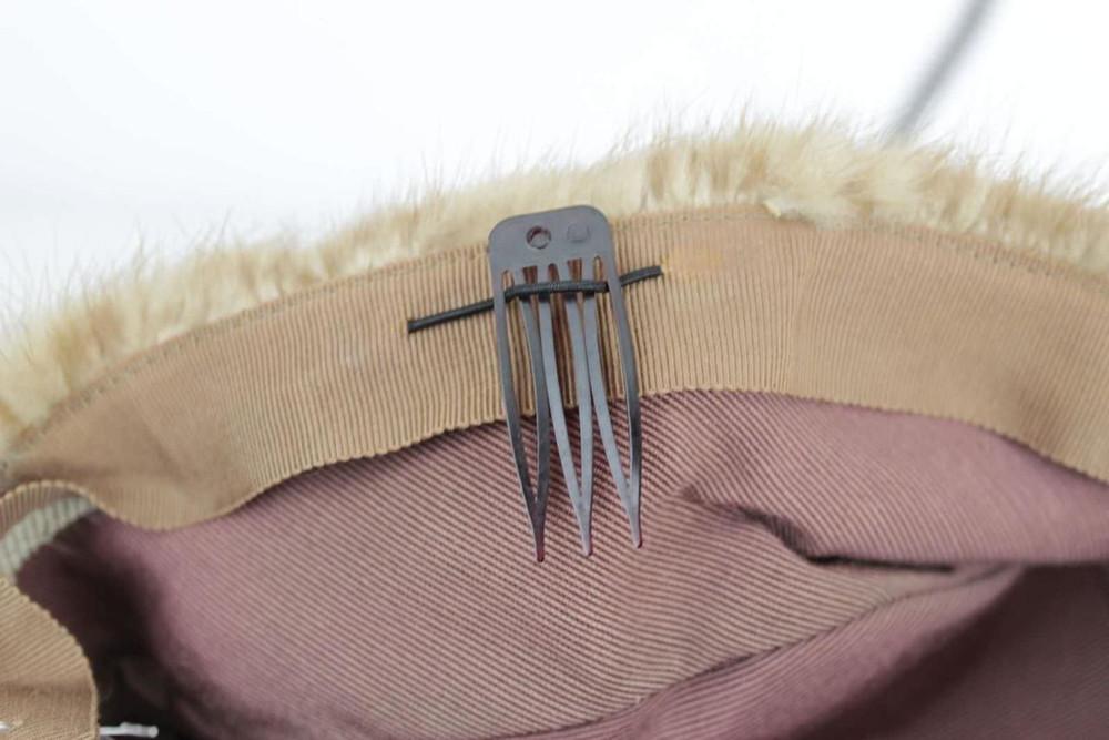 Vintage 1960s Mink Fur Pillbox Hat