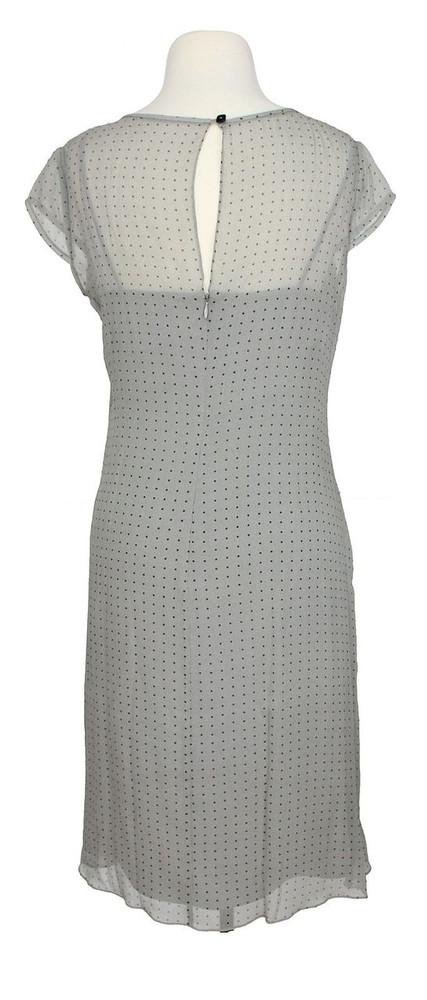 Phoebe Gray Polka Dot Double Layer Dress