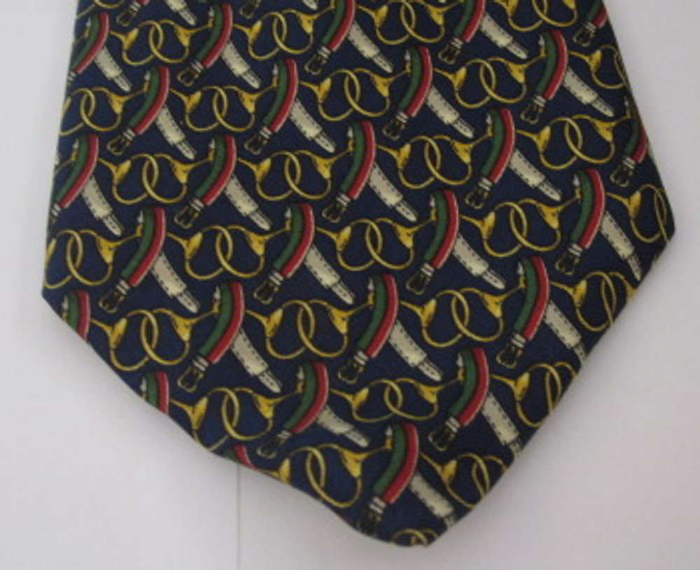 Brooks Brothers navy blue equestrian themed tie