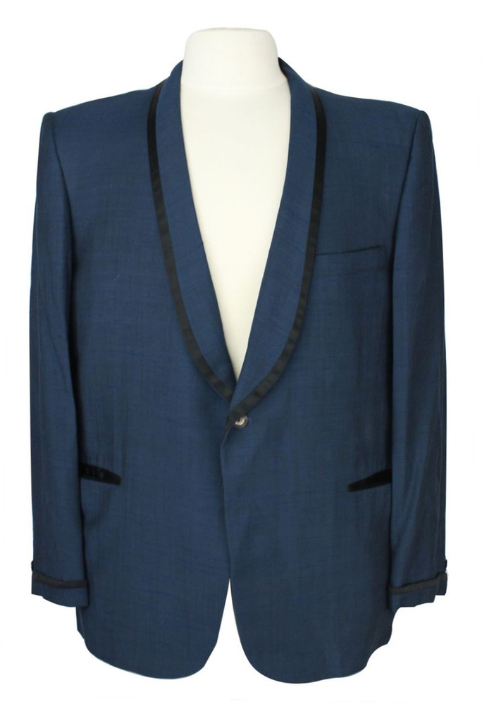Vintage After Six by Rudofker Navy Blue Tuxedo Jacket