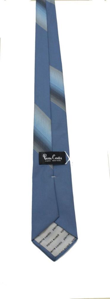 Vintage Pierre Cardin Skinny Blue & Gray Tie