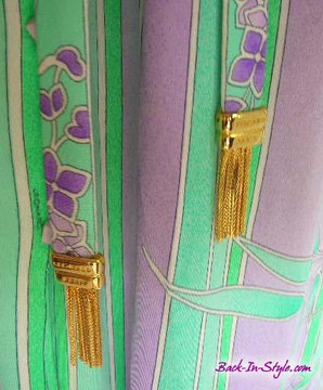 Leonard Mint Green & Purple Belted Jersey Dress