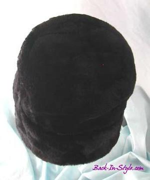Black Fur Bucket Hat