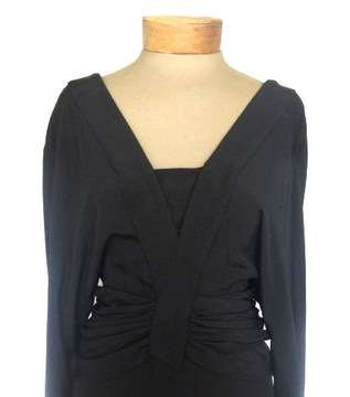 Chloe Vintage 1980s Black Long Sleeved Dress