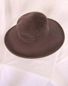 Frank Olive gray velour wide brim hat