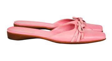Kate Spade Pink Leather Closed Toe Slides