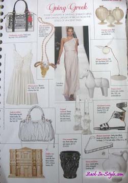Vintage Mary McFadden Cream Grecian Fortuny Pleat Dress 1