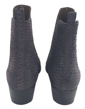 Sartore Brown Snakeskin Ankle Boots