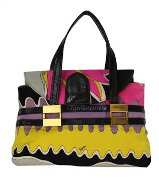 Vintage Bessi 1960s Multi-Print  Silk Handbag