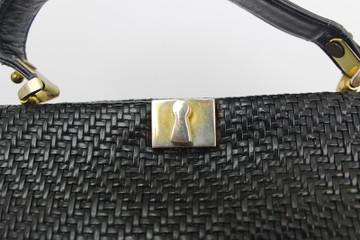Vintage Roberta di Camerino 1960s Black Woven Bag