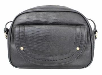 Juicy Couture Sophia Black Leather Shoulder Satchel