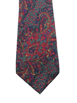 Liberty of London silk paisley tie in red & green