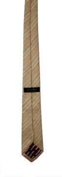 Vintage Super Skinny Tan Woven Silk Tie