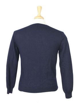J. Crew Navy Blue V Neck Wool Sweater