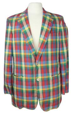 Vintage Corbin Colorful Plaid Blazer