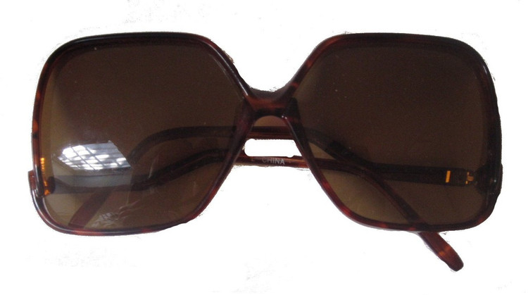 Vintage Oversized Brown Square Sunglasses