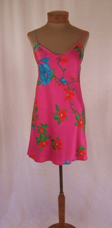 Leonard Bright Pink Floral Slip Dress