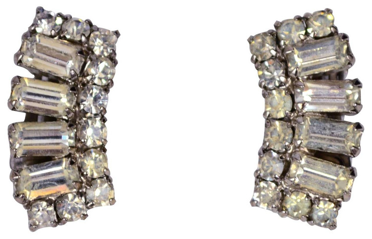 Vintage Glam Rhinestone Earrings