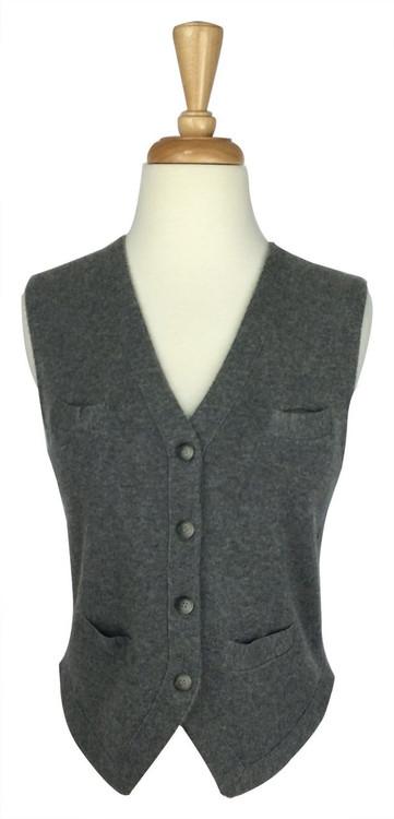 Theory Gray Cashmere Knit Vest