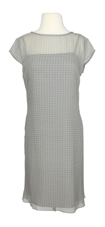 Phoebe Gray Polka Dot Double Layer Dress