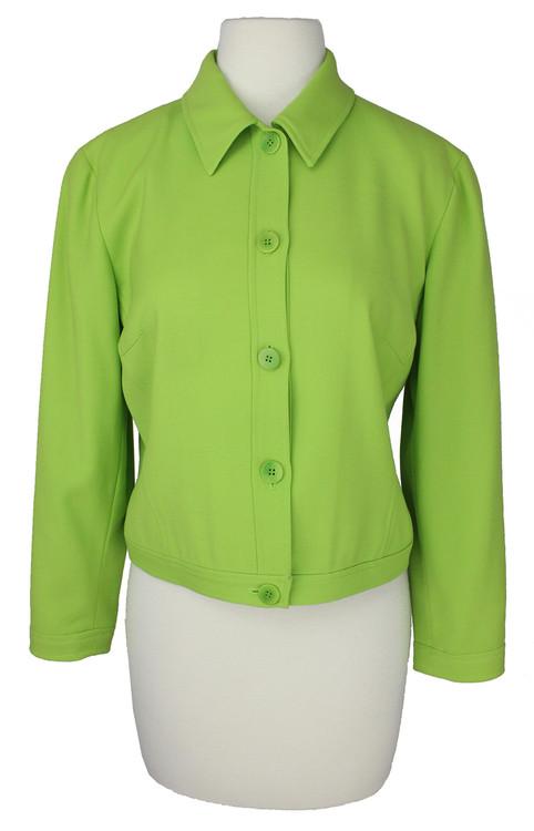 Vintage Emanuel Ungaro 1980s Lime Green Blazer