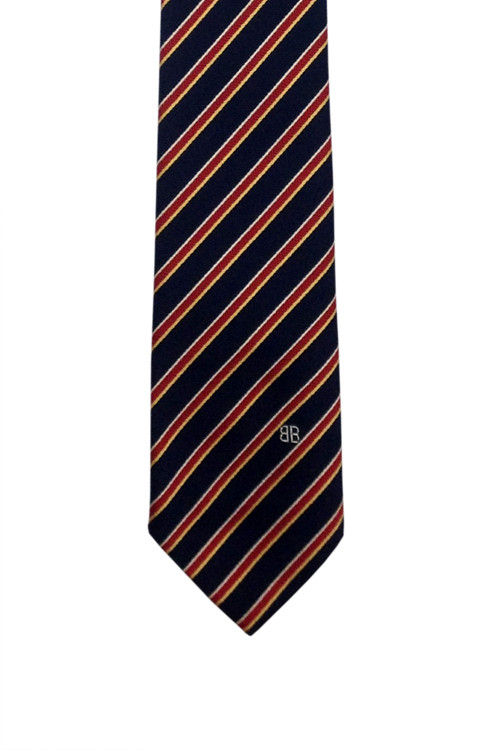 Bill Blass navy & red classic stripe tie