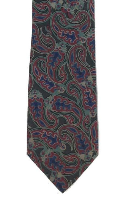 Chrisitan Dior muted paisley tie in shades of green