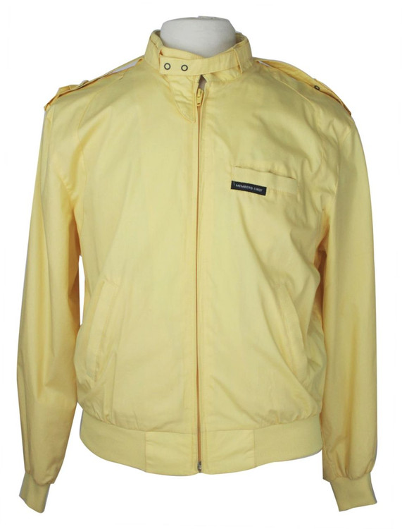Vintage 1980s Members Only Yellow Jacket