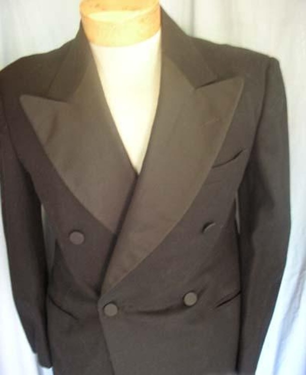 Mens Black Double Breasted Tuxedo