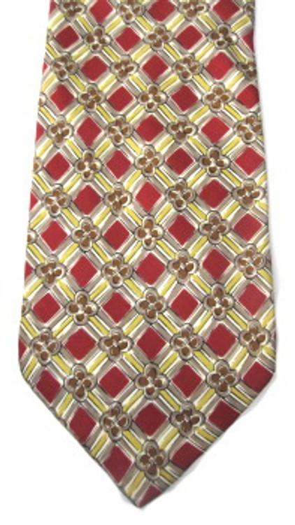 Valentino Burgundy & Gold Necktie
