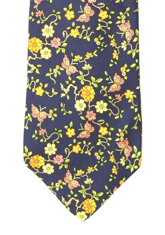 Nina Ricci Navy Fun Butterfly Tie