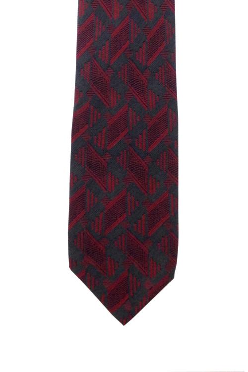 Vintage Cacharel Abstract Grey & Hot Pink Silk Tie