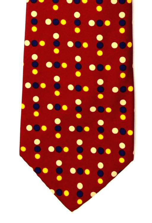 Vintage Christian Dior Super Wide Retro Dot Tie