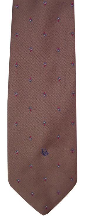 Christian Dior Retro Skinny Tie with Logo Tip