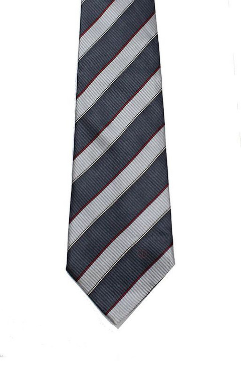 Vintage Dunhill Striped Grey Tie
