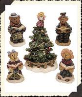 Boyds ~~~ BEARLY CAROLIN' PARTY With TREE
