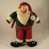 Delton  ~  SANTA With DANGLING LEGS ... Green & Red  *  NEW From Our Retail Shop
