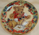 Franklin Mint  ~  TEDDY'S FIRST CHRISTMAS ... Limited Edition Plate
