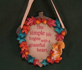 SIGNS OF TIME ~  SIMPLE LIFE ... GRATEFUL HEART *Fall Plaque*  NEW