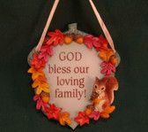 SIGNS OF TIME ~  GOD BLESS OUR FAMILY  *Fall Plaque*  NEW